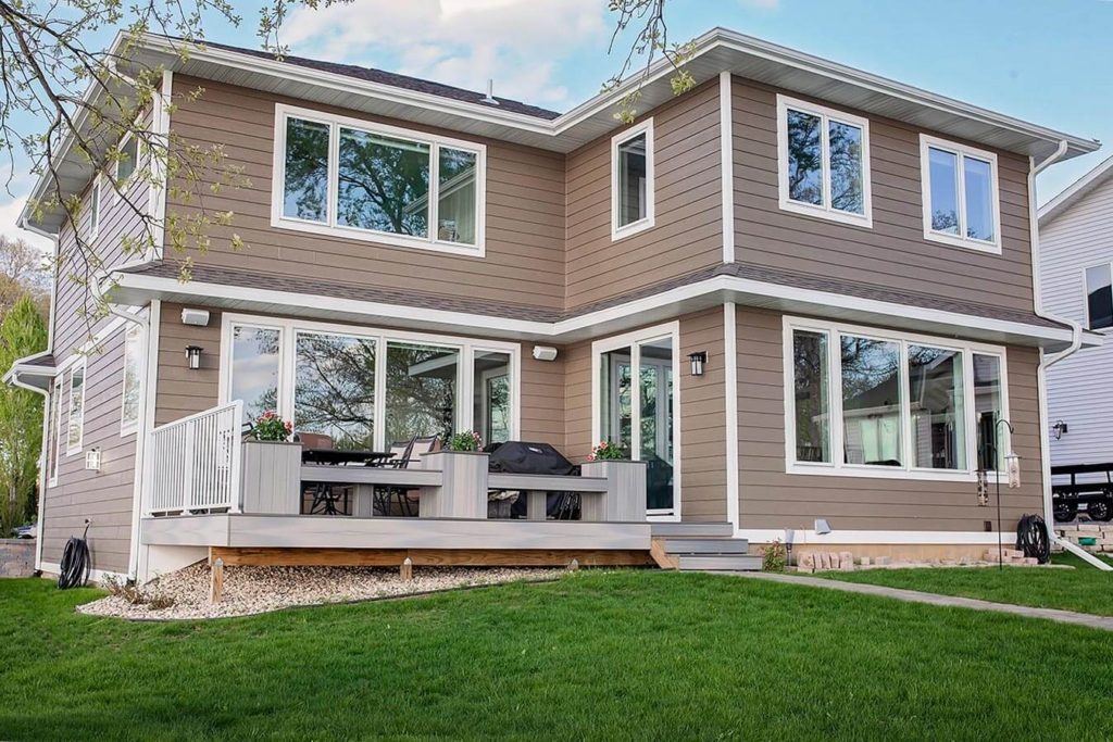 Cheramy Builders Inc., Card Ave home exterior siding, windows and doors, deck.