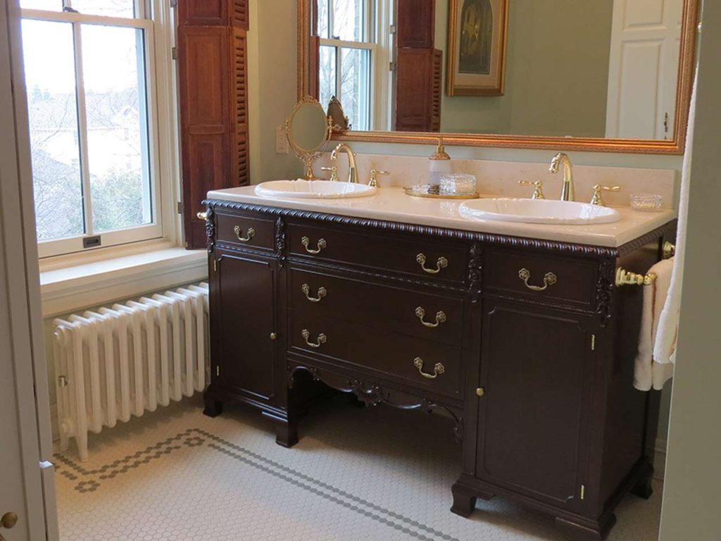 Cheramy Builders Inc., Columbus House bathroom vanity, and custom tile