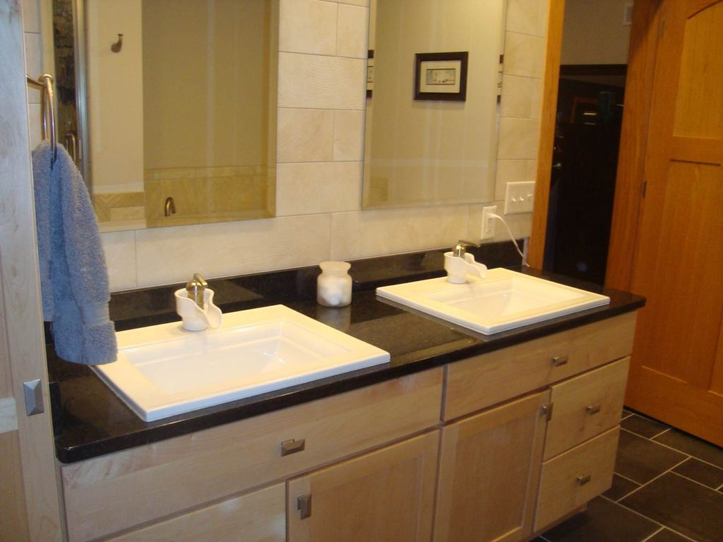 Cheramy Builders Inc., Master bathroom vanity and tile design