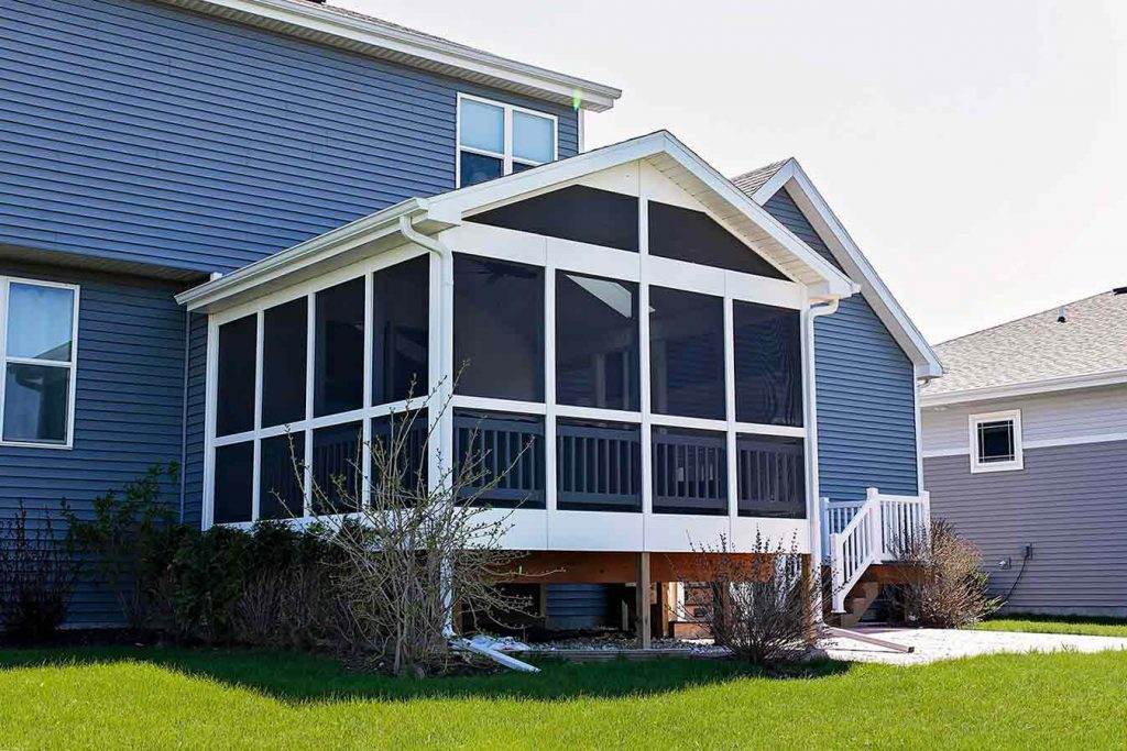 Cheramy Builders Inc., Screen porch addition exterior view